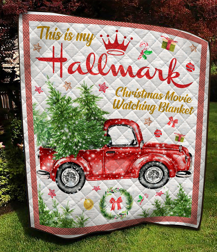 This Is My Hallmark Christmas Movie Watching Quilt Blanket EP317