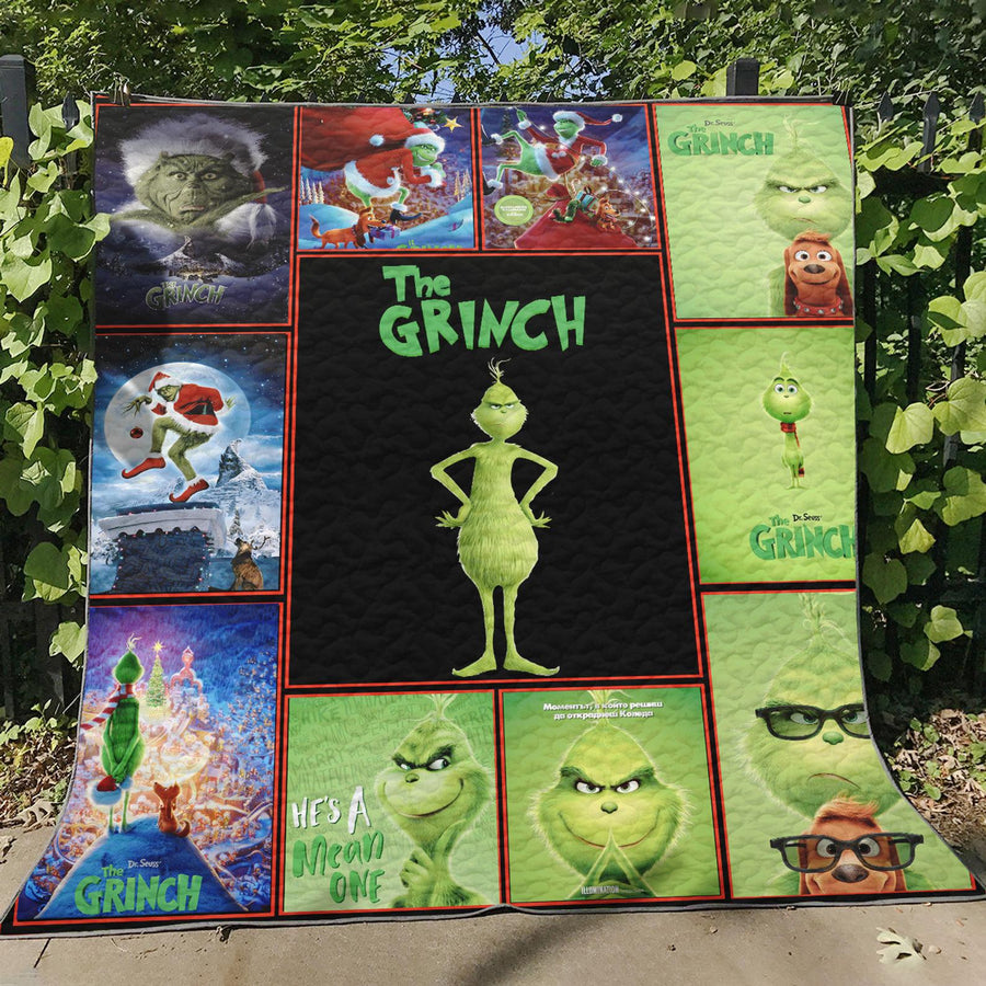 Grinch Christmas Quilt Blanket EP315