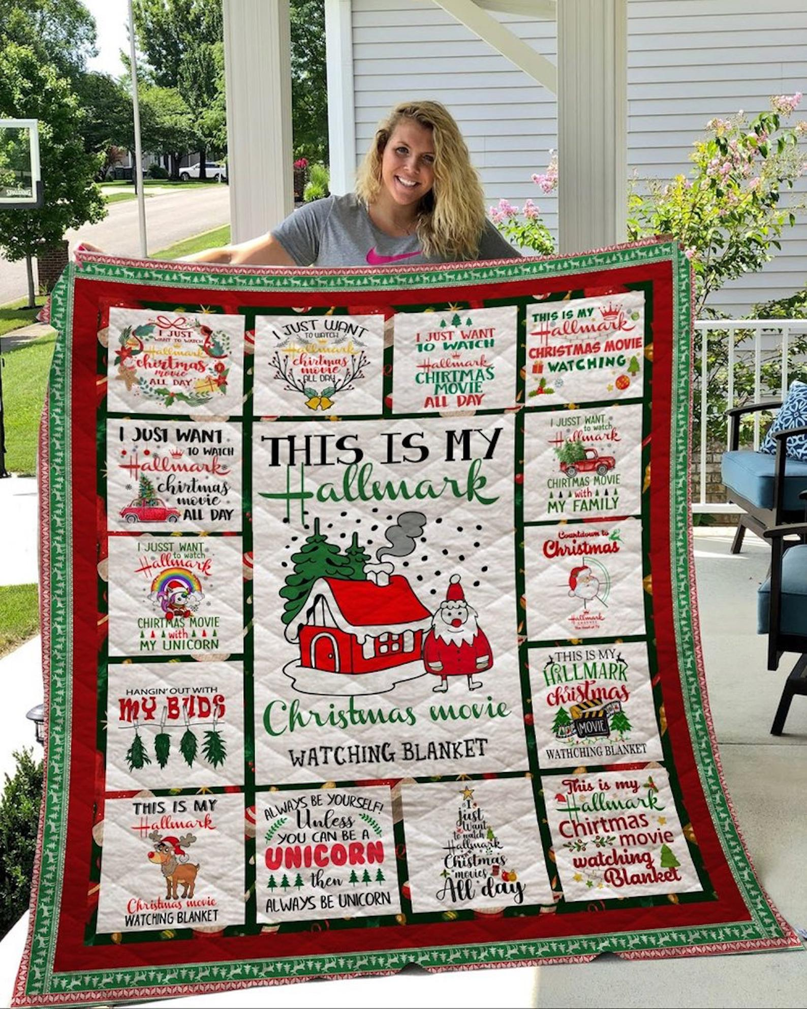 This Is My Hallmark Christmas Movie Waching Blanket Quilt EP370