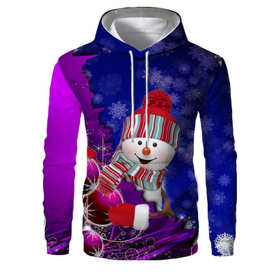 Cats Christmas All Over Hoodie Hip Hop Pullover