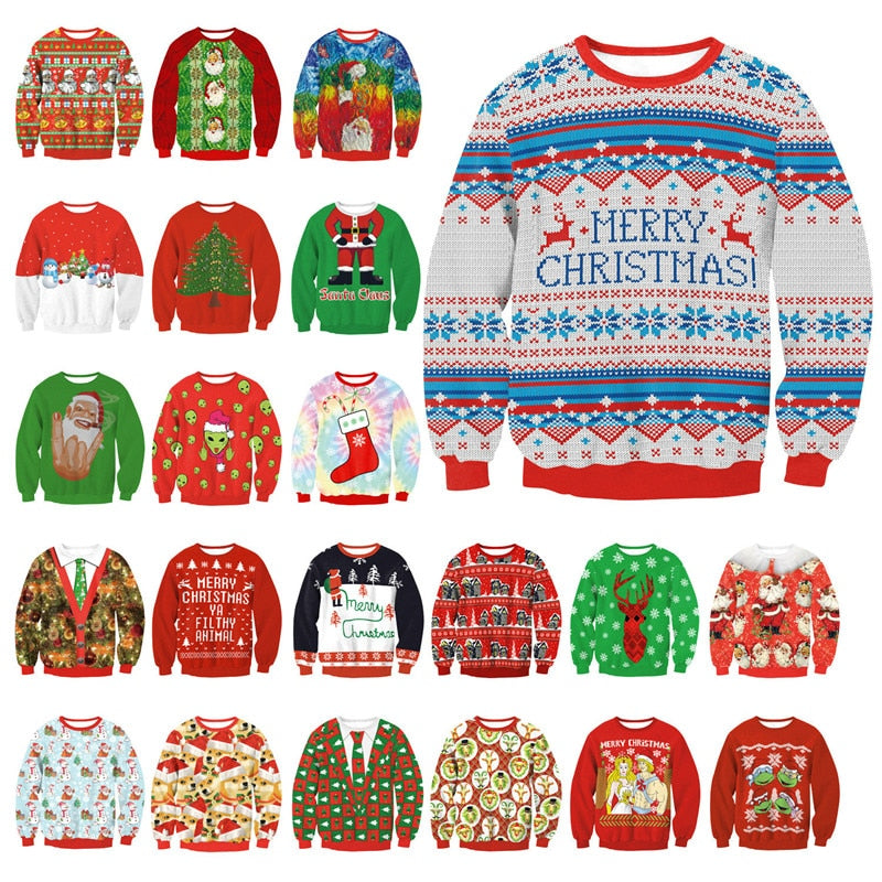 Men Women Christmas Sweater All Over Print PF100