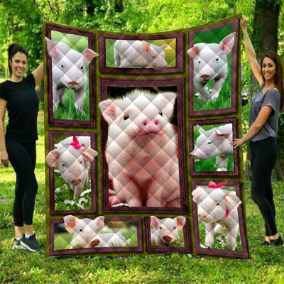 Cute Pig Cover Quilt Queen Size For Kids Adult Warm Blankets For Beds Soft Sofa Outdoor Camping Quilt