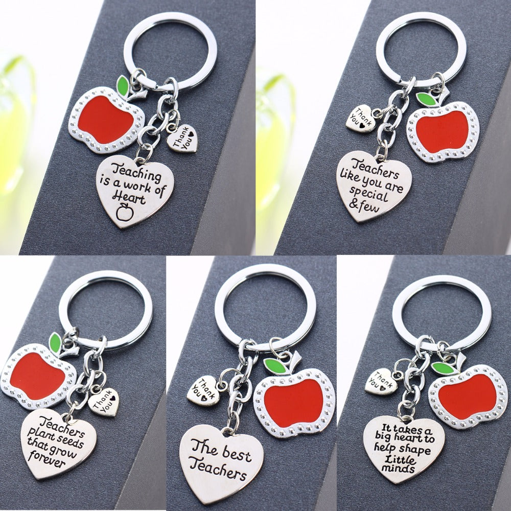 Teachers Love Heart Keychain