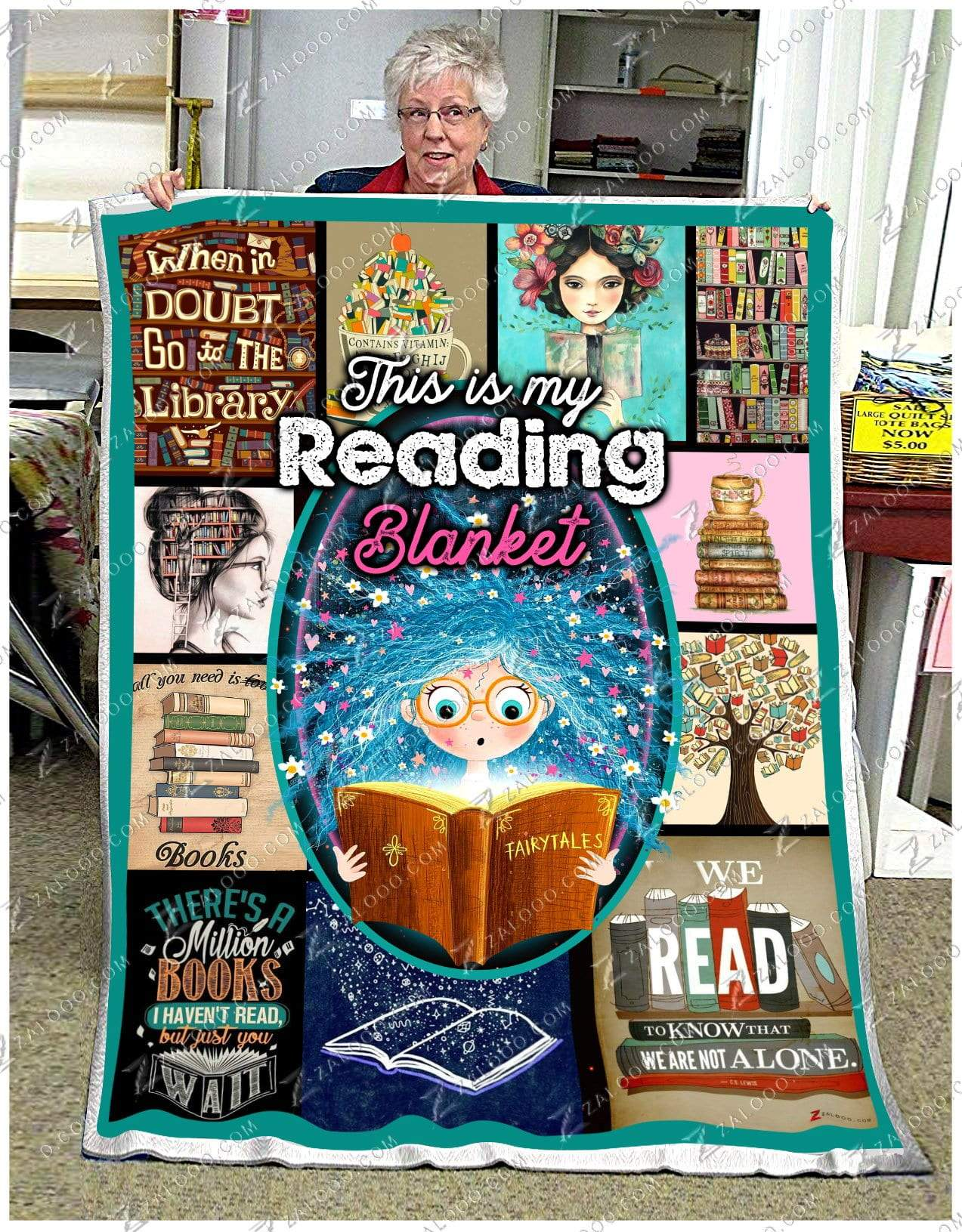 READ - This is my Reading Quilt Blanket EP2138