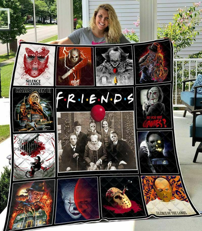 FRIENDS Horror Characters Halloween Pennywise Michael Quilt Blanket EP256