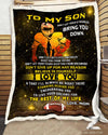 Custom Birthday Gift - FOOTBALL - Son Mom - Dont let todays troubles bring you down - 2