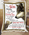 Custom WOLF - For Son From Mom - When life tries to knock you down - 4