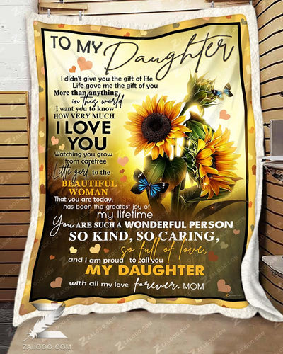 Custom Sunflower For Daughter From Mom - Life gave me the gift of you - 1
