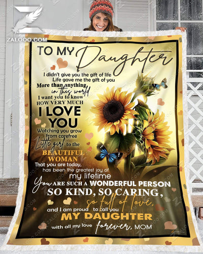 Custom Sunflower For Daughter From Mom - Life gave me the gift of you - 3
