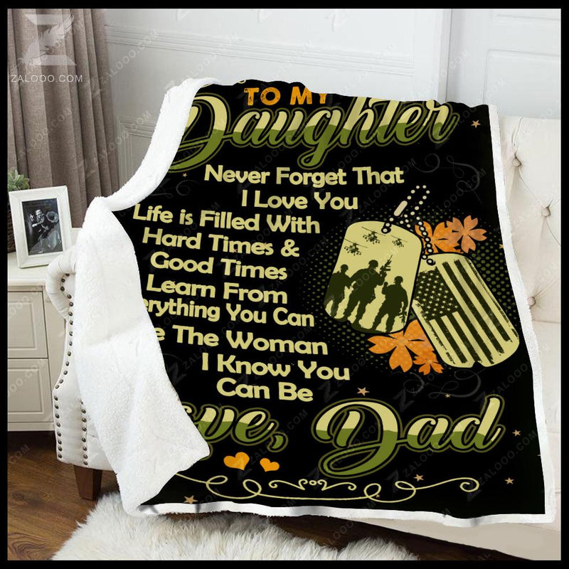 Veteran - To my daughter - Be the woman Quilt Blanket EP2229