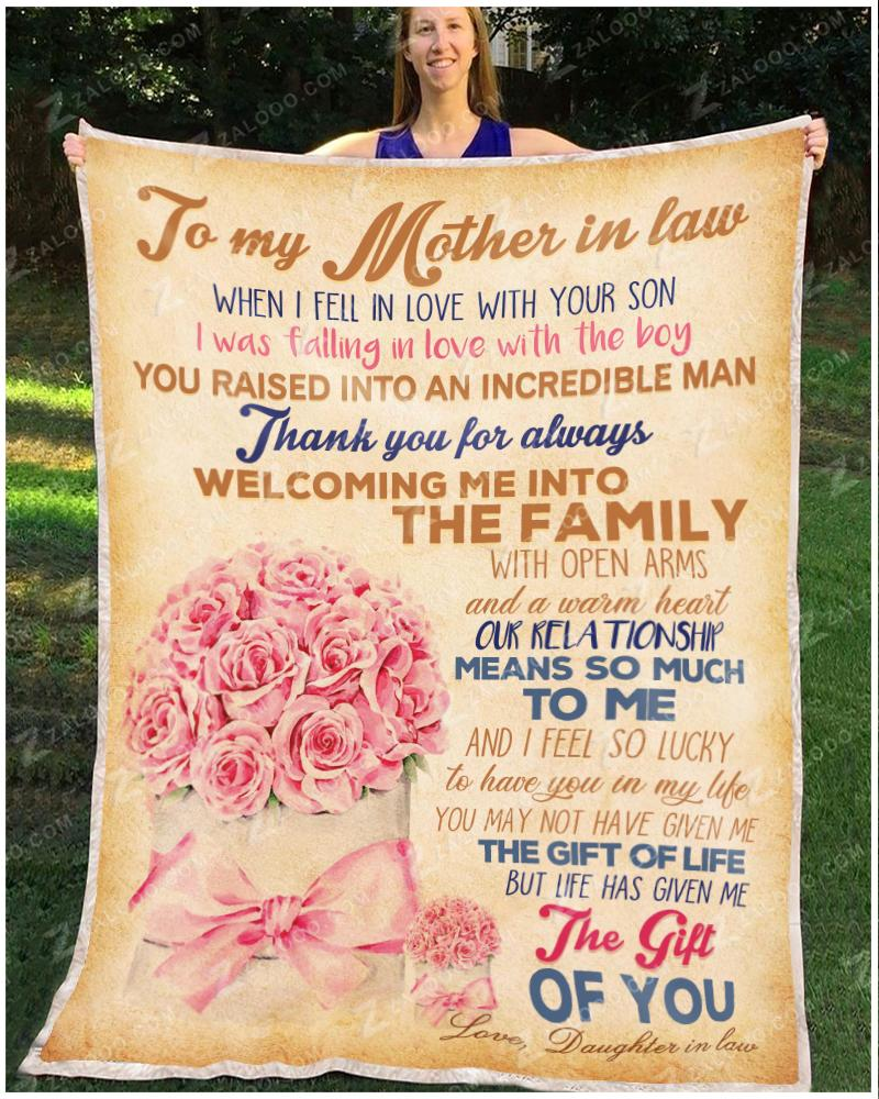 To My Mother In Law - When I fell in love with your son Ver2 Quilt Blanket EP2746