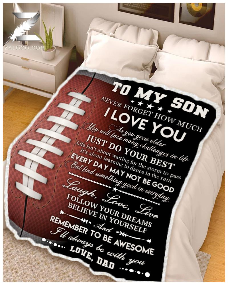 Football - To my son - Remember to be awesome Dad - 1