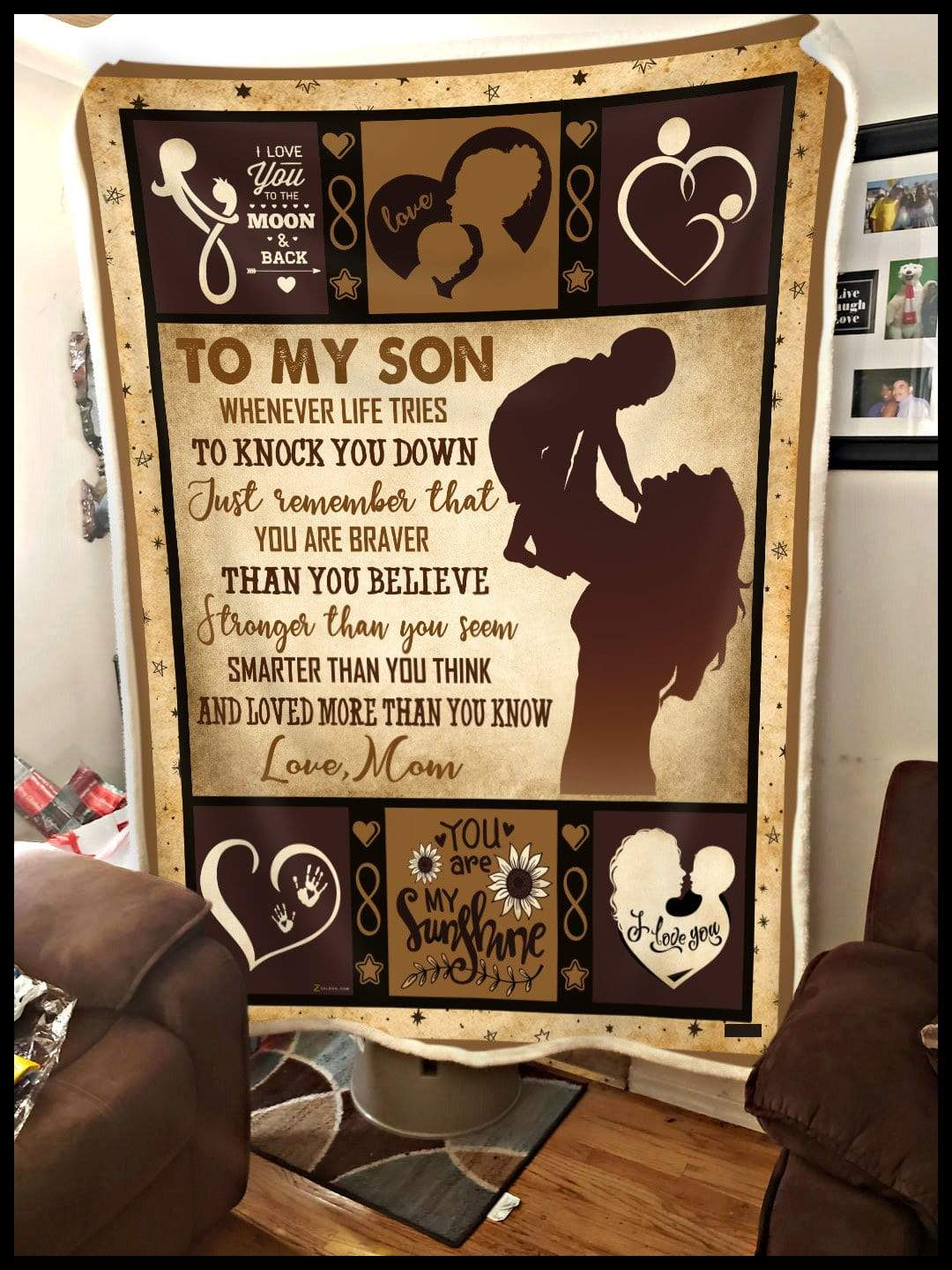 To my Son - Youre love more than you know Quilt Blanket EP2680