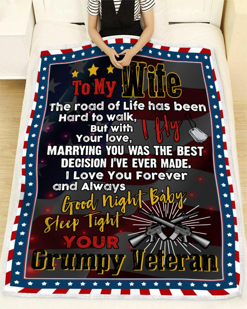 Veteran - To my wife - I fly Quilt Blanket EP1104