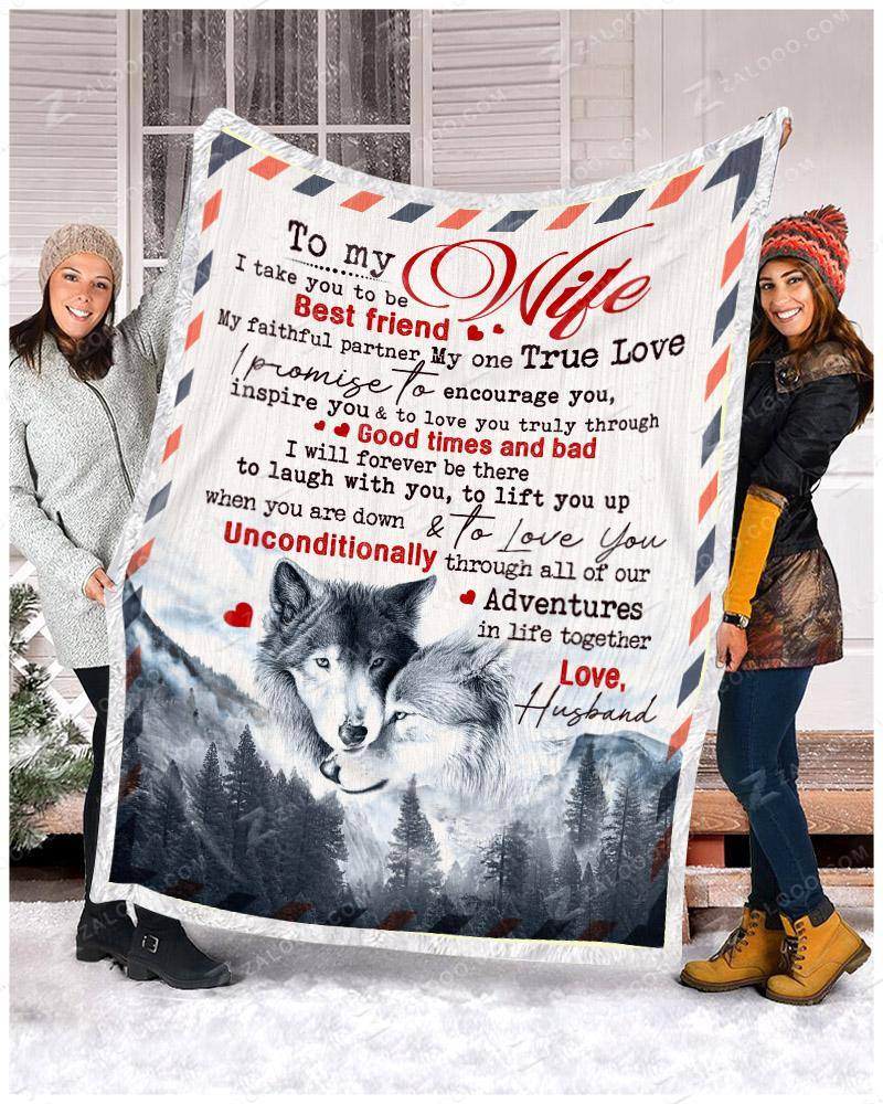 WOLF - To My Wife - I Take You Quilt Blanket EP2700