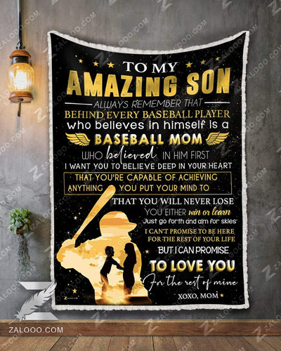 BASEBALL - Son Mom - Behind A Baseball Player - 1