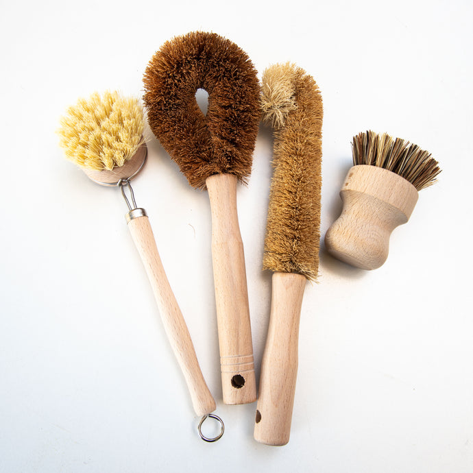 Various Natural Dish and Cleaning Brushes