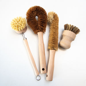 Natural Fibre Dish Brushes and Pot Scrubbers (set of 4)