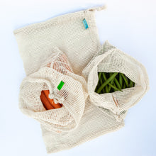 Load image into Gallery viewer, Cotton Mesh Bags (set of 3)