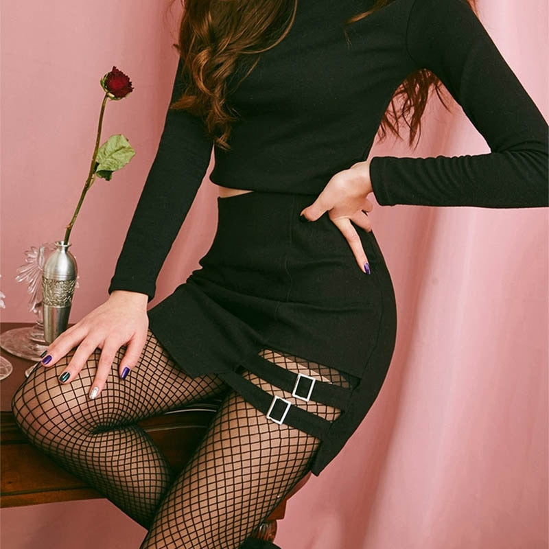 Love Bites Cutout Mini Skirt