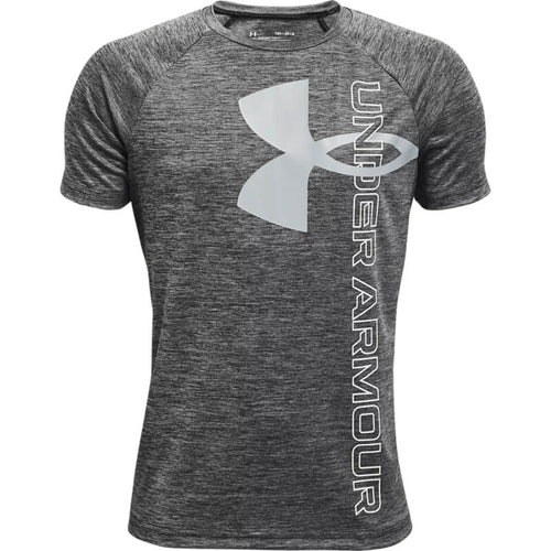 Youth Under Armour Tech Split Logo Hybrid S/S Tee