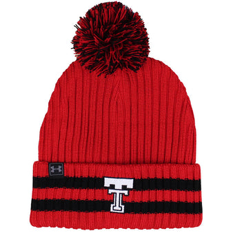 Adult Under Armour Texas Tech Throwback Fundamental Pom Beanie