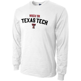 Adult Blue 84 Texas Tech Wreck 'Em L/S Tee