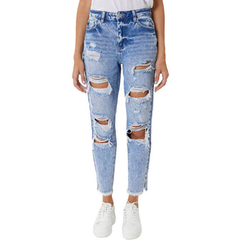 Women's KanCan High Rise Distressed Boyfriend Jean