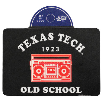 Blue 84 Texas Tech Life Is Good Boombox Sticker