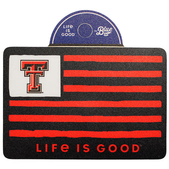 Blue 84 Texas Tech Life Is Good Flag Sticker