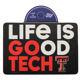 Blue 84 Texas Tech Life Is Good Stacked Sticker