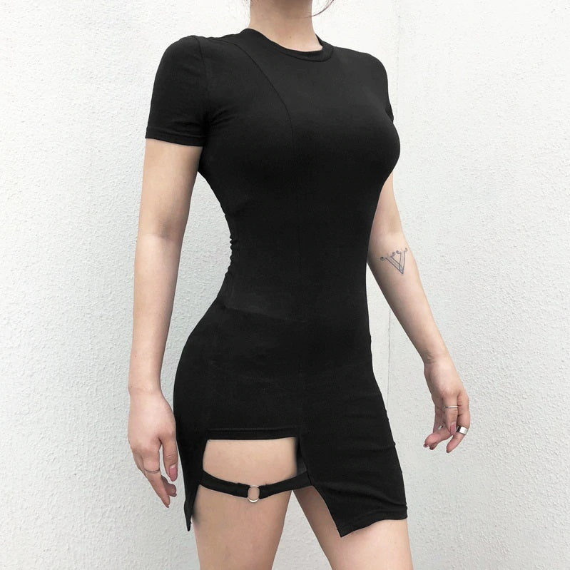 Strap Cut Out Mini Dress
