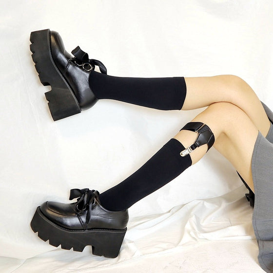 Soft BB Oxford Shoes - ALTERBABE Shop Grunge, E-girl, Gothic, Goth, Dark Academia, Soft Girl, Nu-Goth, Aesthetic, Alternative Fashion, Clothing, Accessories, Footwear
