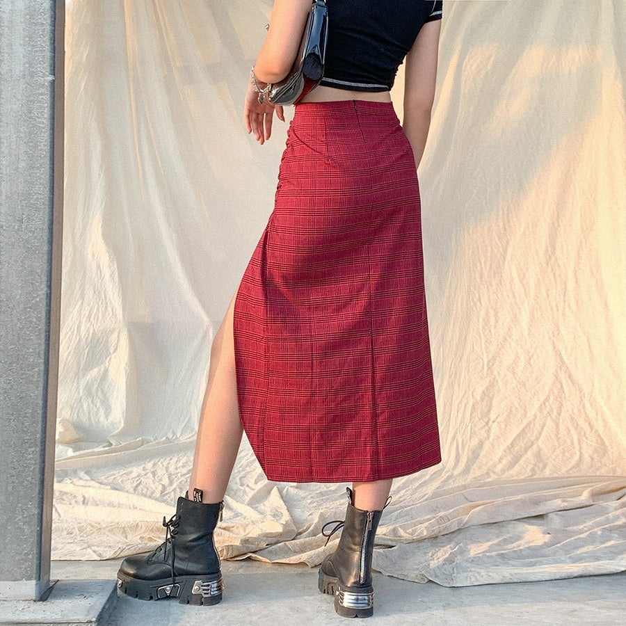 Lesson Learned Plaid Skirt