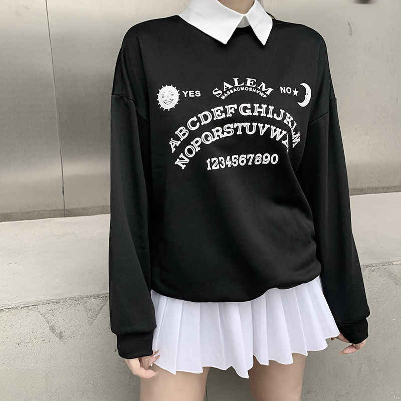 Ouija Board Collared Sweatshirt