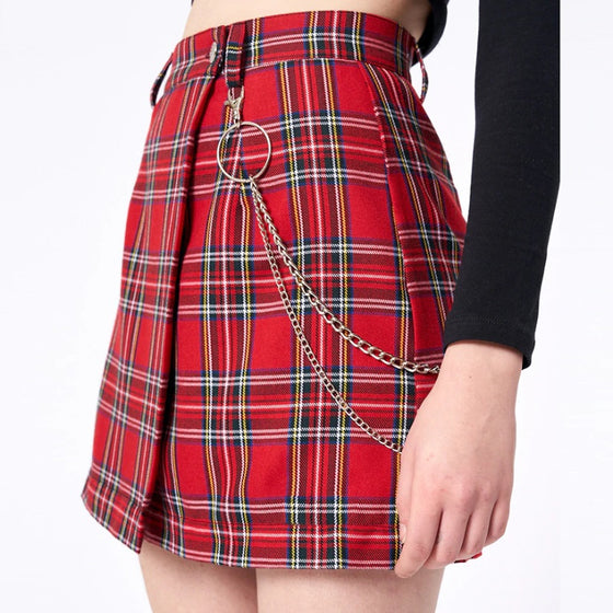 Wrap It Plaid Mini Skirt