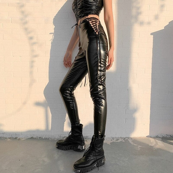 Twisted Desire Lace-Up Leggings