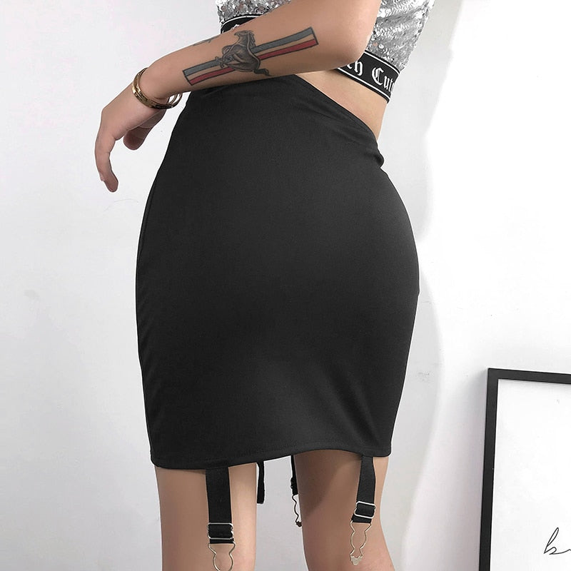 Stitched Up Mini Skirt