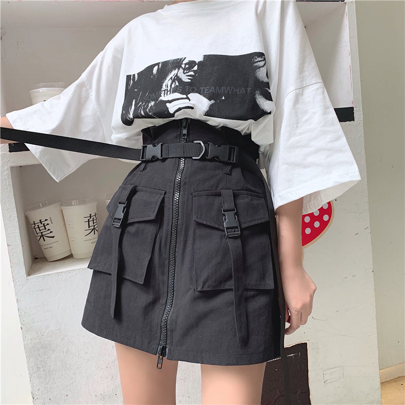 Night Cargo Mini Skirt