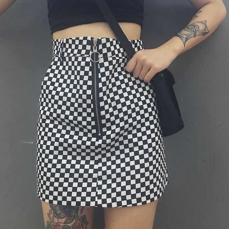Check This Out Checkered Skirt