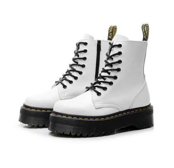 White Sum Extra Height Boots