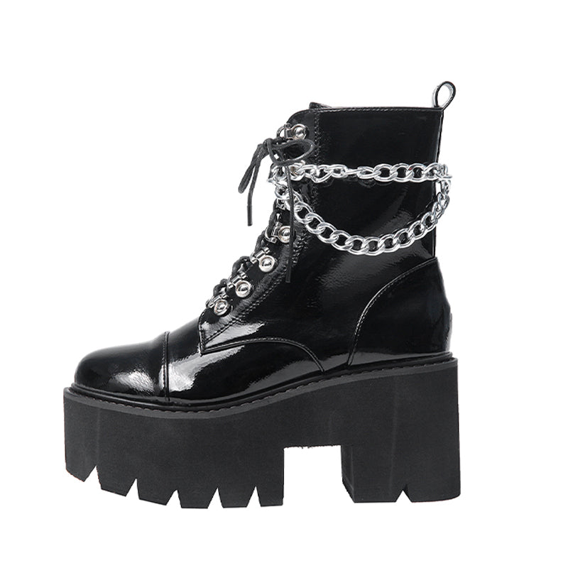 Drippin' In Chains Platform Boots
