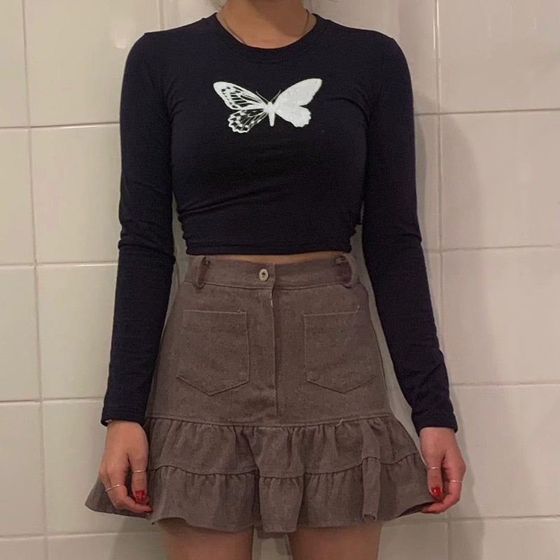 Butterfly Matrix Crop Top