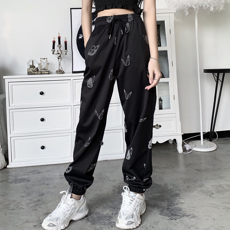 Reflective Butterfly Jogger Pants