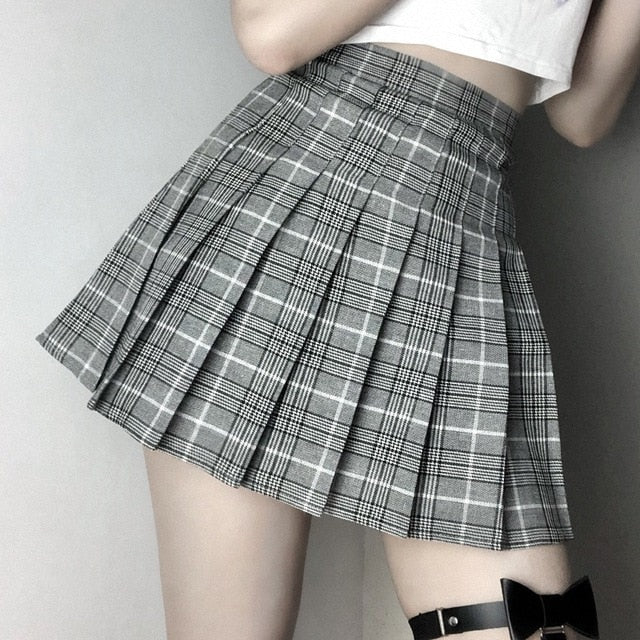Pay My Tuition Plaid Skirt