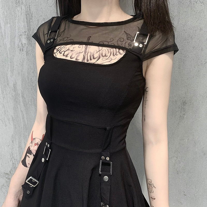 Unattainable Buckle Mini Dress