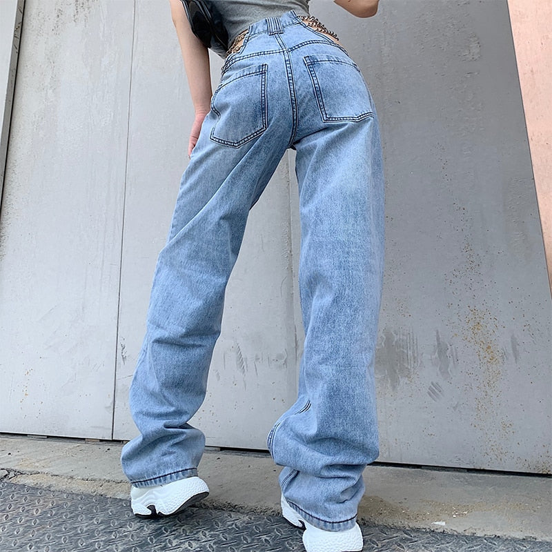 Cut Out Chain Jeans
