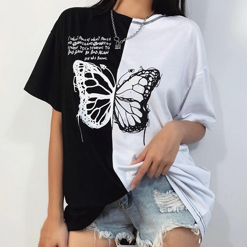 Butterfly Split Oversized Tee