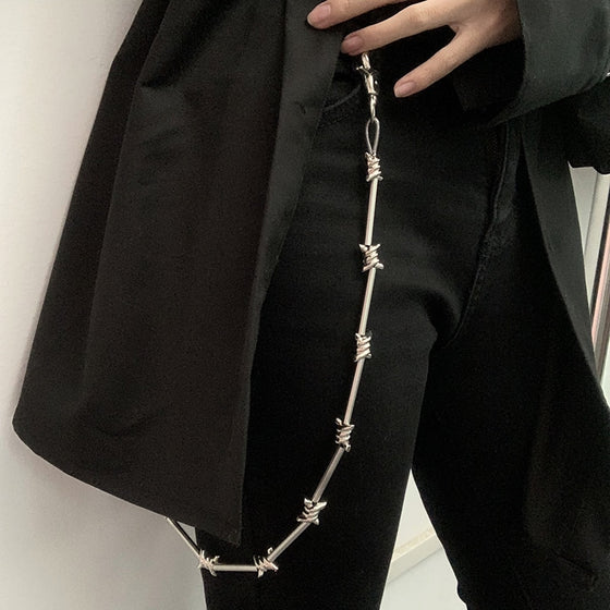 Cut You Up Chain Jean Chain - ALTERBABE Shop Grunge, E-girl, Gothic, Goth, Dark Academia, Soft Girl, Nu-Goth, Aesthetic, Alternative Fashion, Clothing, Accessories, Footwear