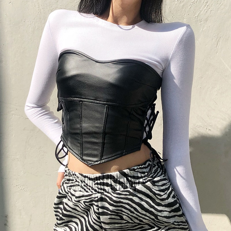 In Your Dreams Tube Top - ALTERBABE Shop Grunge, E-girl, Gothic, Goth, Dark Academia, Soft Girl, Nu-Goth, Aesthetic, Alternative Fashion, Clothing, Accessories, Footwear